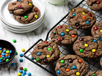 Chocolate M&m Cookies With Cake Mix