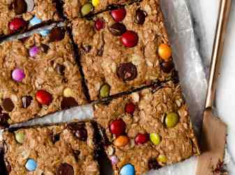 Monster Cookie Bars With Coconut