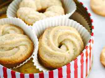 Butter Cookies In Tin Can