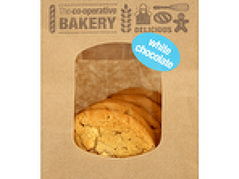 Calories in Co-op Bakery 5 White Chocolate Cookies, Nutrition