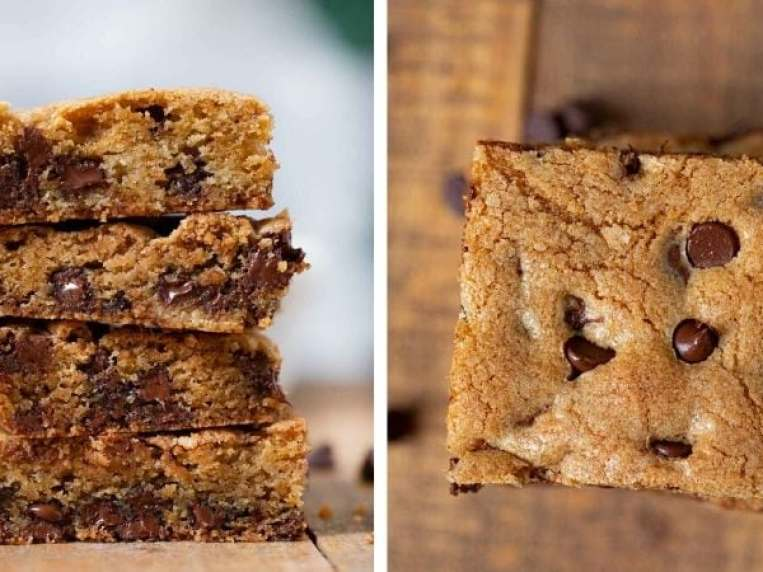 Chocolate Chip Cookie Bars Recipe (One Bowl!)