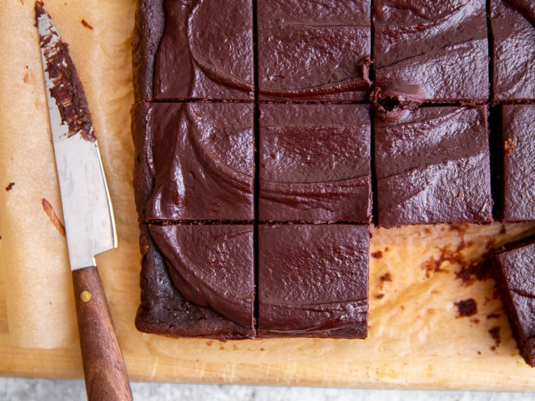 Fudgy Black Bean Brownies Recipe with Easy Cacao Frosting! (GF)