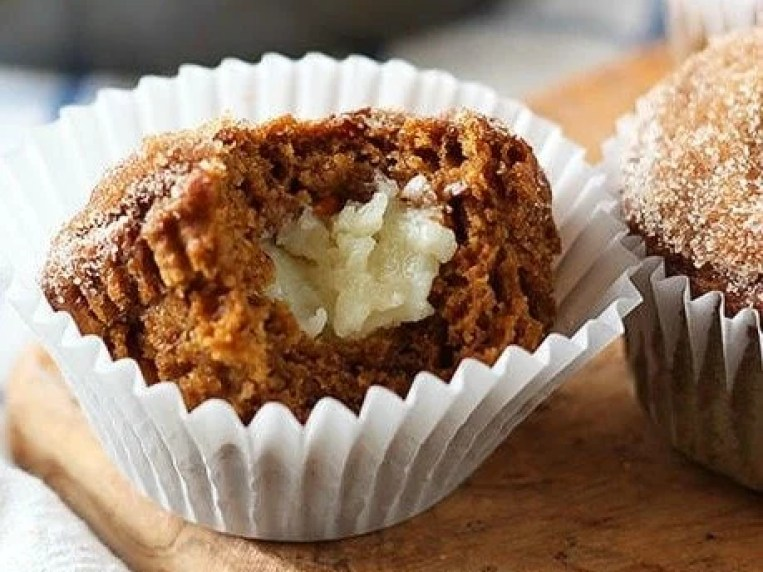 How to make Pumpkin Cheesecake Snickerdoodle Muffins