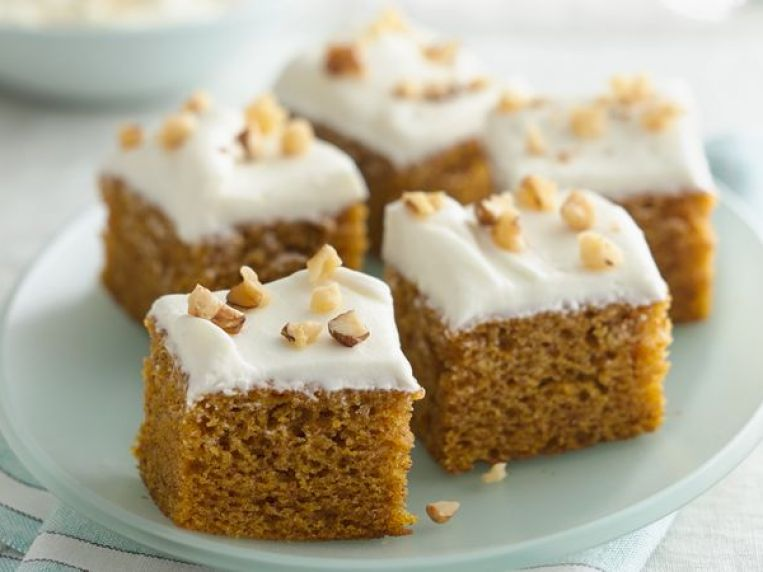 Pumpkin-Spice Bars with Cream Cheese Frosting Recipe