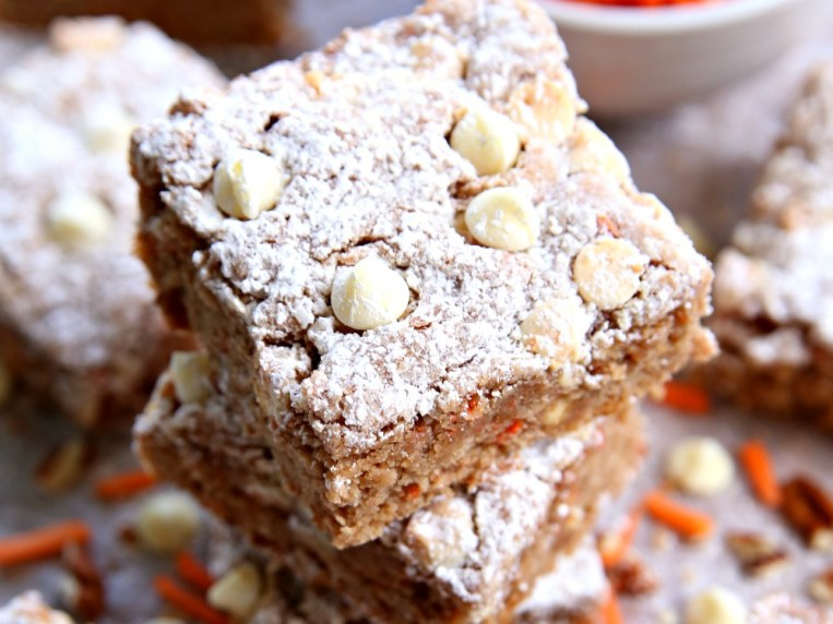 Easy Carrot Cake Ooey Gooey Cookie Bars Recipe perfect for Easter