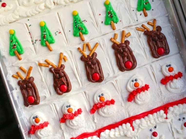 Decorated Christmas Sugar Cookie Bars