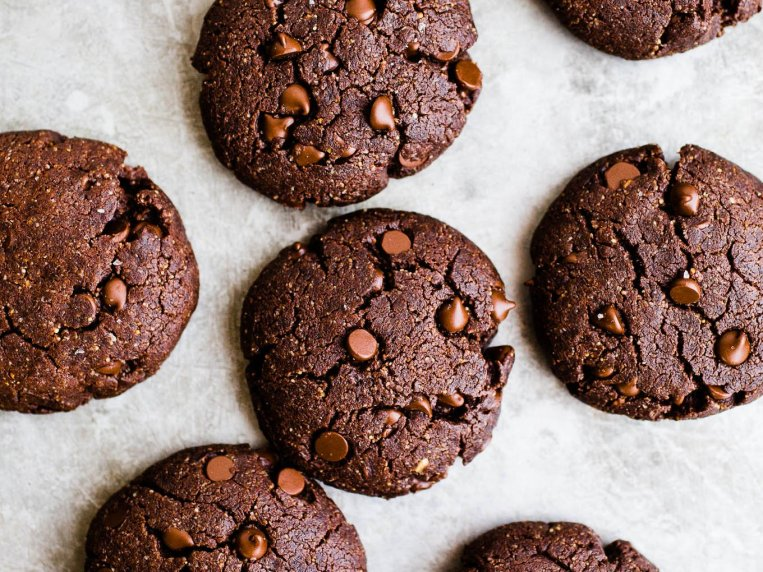 Vegan Double Chocolate Peanut Butter Cookies – Salted Plains