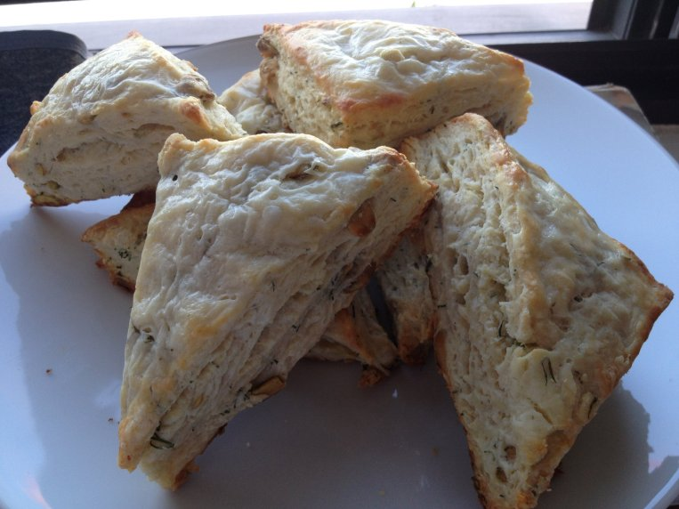 Savory Scones (with Goat Cheese, Dill, and Pistachios) — culinary