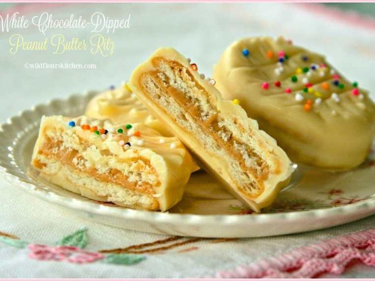 White Chocolate Dipped Peanut Butter Ritz