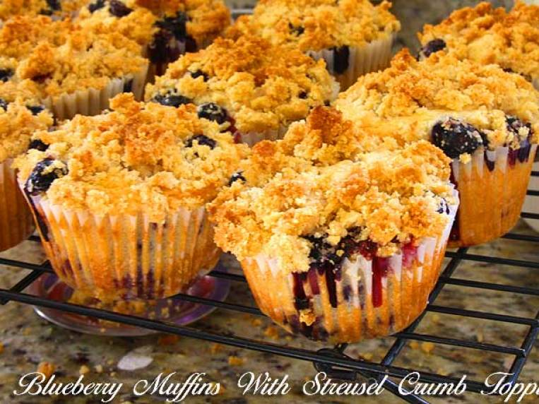 Blueberry Muffins with Crumble Toppings Recipe