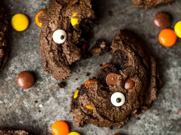 Double Double Chocolate Peanut Butter Cookies