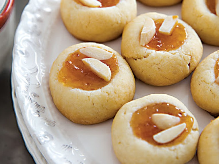 Lidia's Almond-Apricot Butter Cookies Recipe