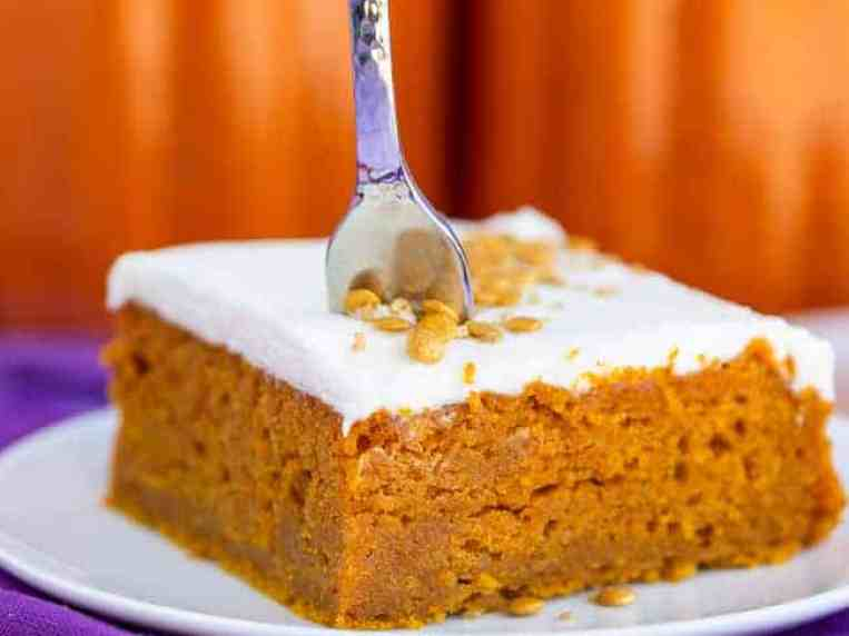 Easy Pumpkin Bars With Cream Cheese Frosting • Love From The