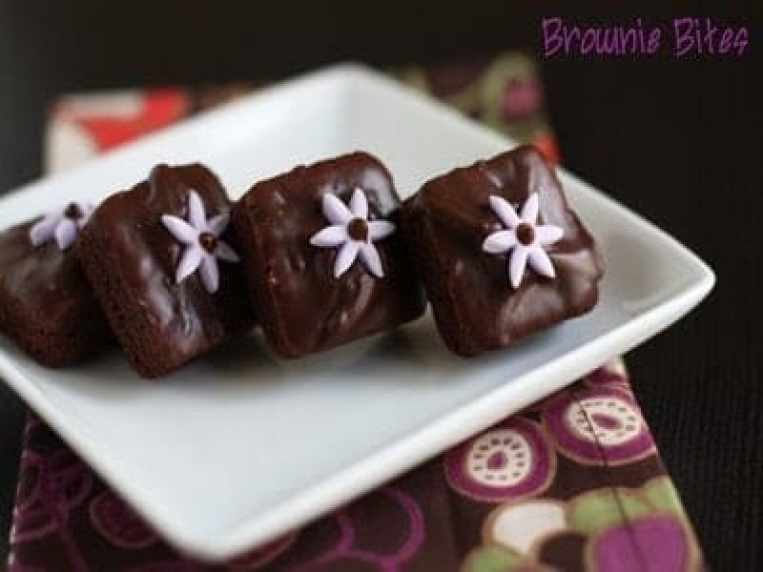 Brownie Bites In Silicone Mold