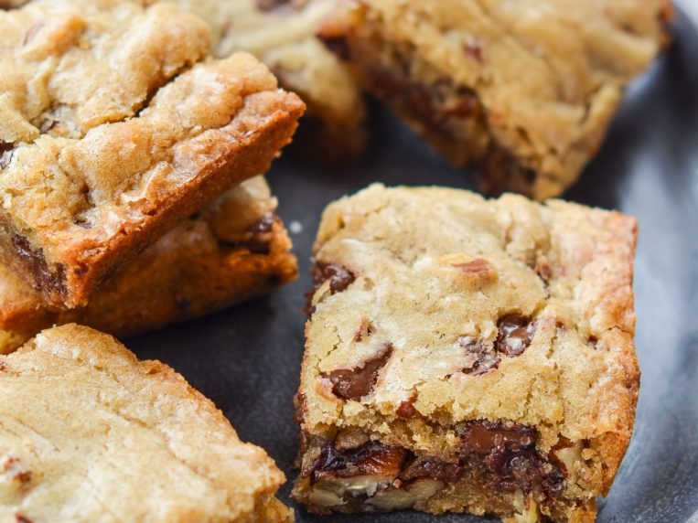 Blondie Recipe with Chocolate Chips & Pecans