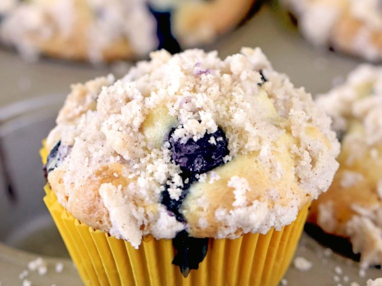 Blueberry Muffins With Streusel Crumb Topping (can be made