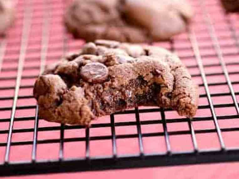 Double Chocolate And Peanut Butter Cookies