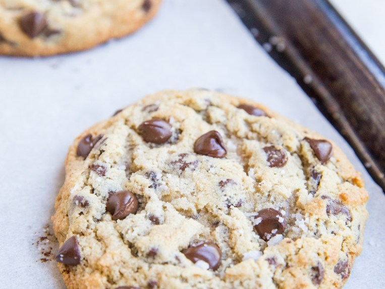 Giant Chewy Keto Chocolate Chip Cookies