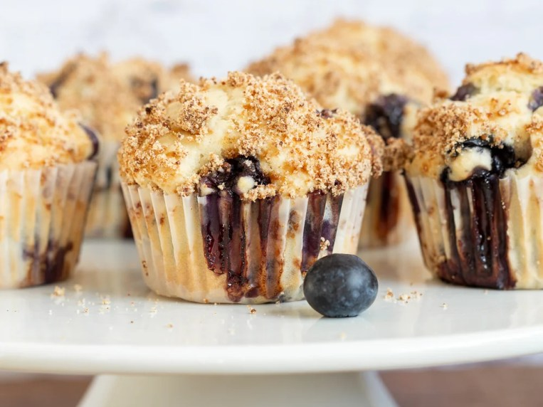 Vegan Blueberry Muffins with Streusel