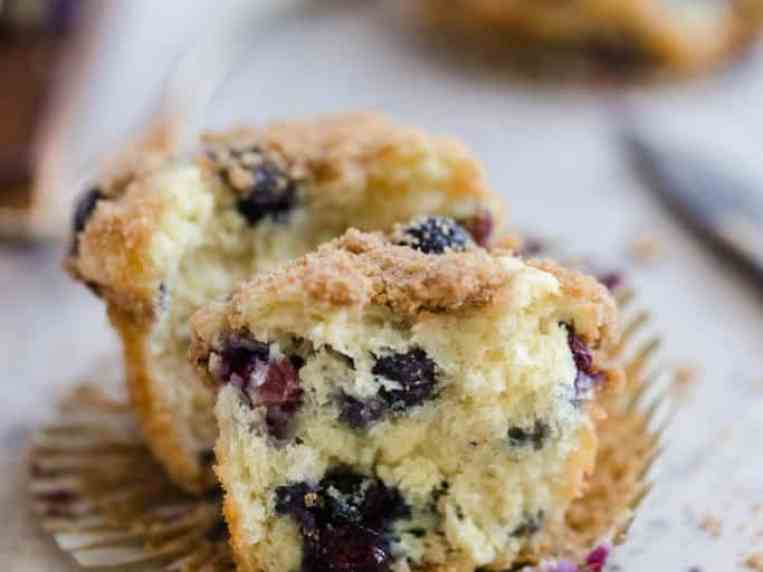 Mini Blueberry Streusel Muffins (with Video!)